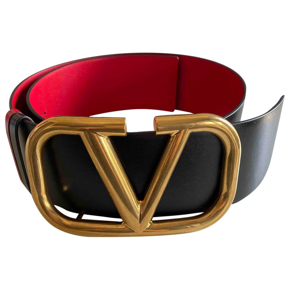 Valentino Garavani \N Black Leather belt for Women 85 cm