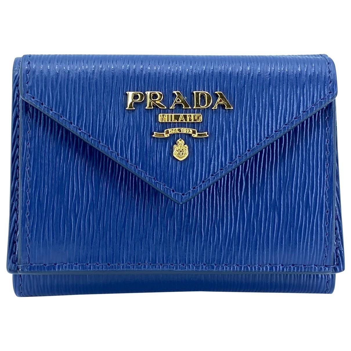 Prada \N Navy Leather Purses, wallet & cases for Women \N