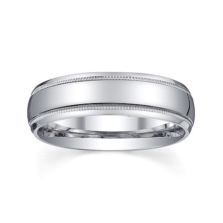 Personalized Mens 6mm Comfort Fit Sterling Silver Wedding Band, 14 1/2 , No Color Family