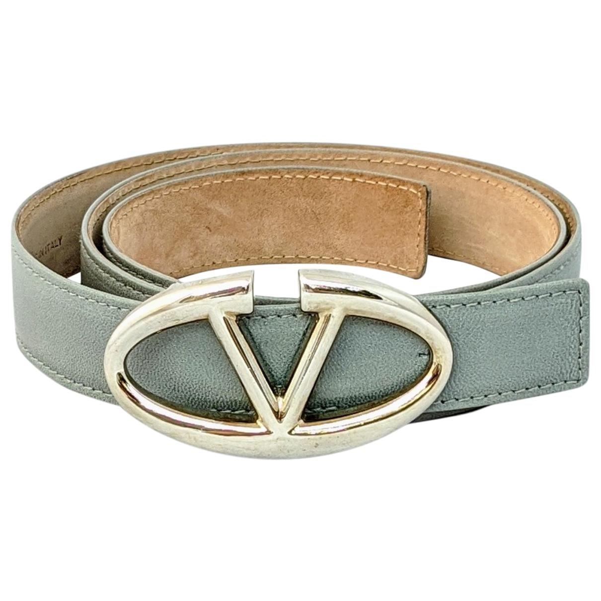 Valentino Garavani \N Grey Leather belt for Women 90 cm