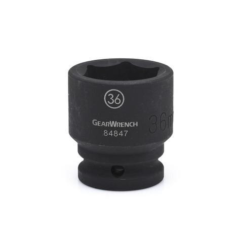 GearWrench Impact Socket, 3/4 In. Drive 6 Point Standard 43mm