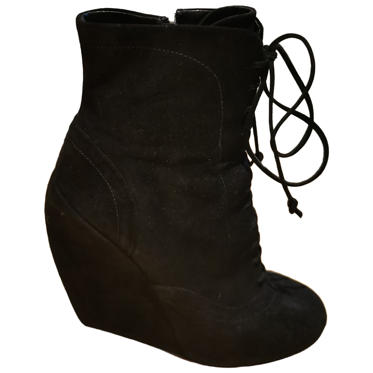 Alaïa \N Black Suede Ankle boots for Women 37.5 EU