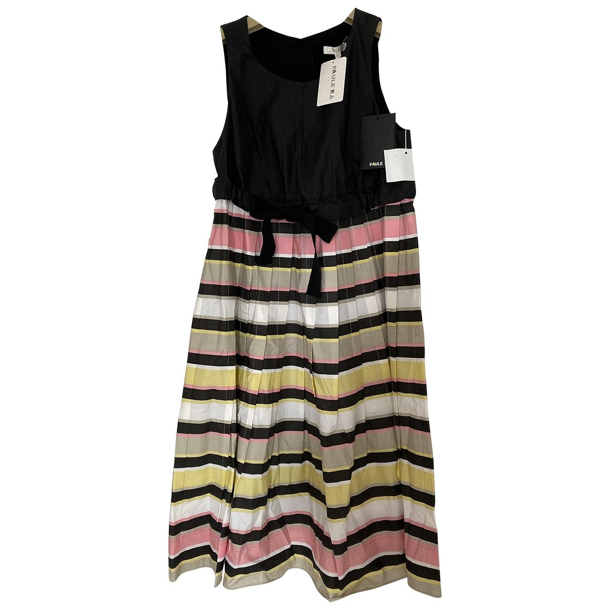 Paule Ka \N Black Cotton dress for Women 38 FR