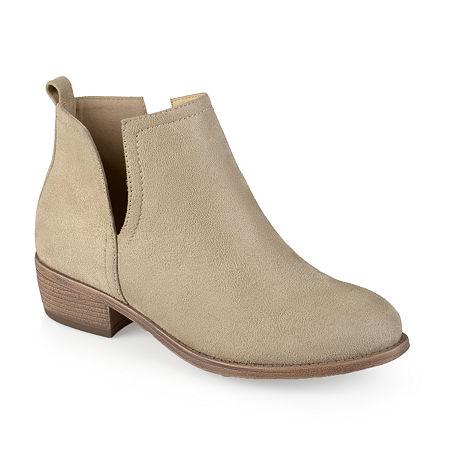 Journee Collection Womens Rimi Booties Block Heel, 7 1/2 Medium, Gray