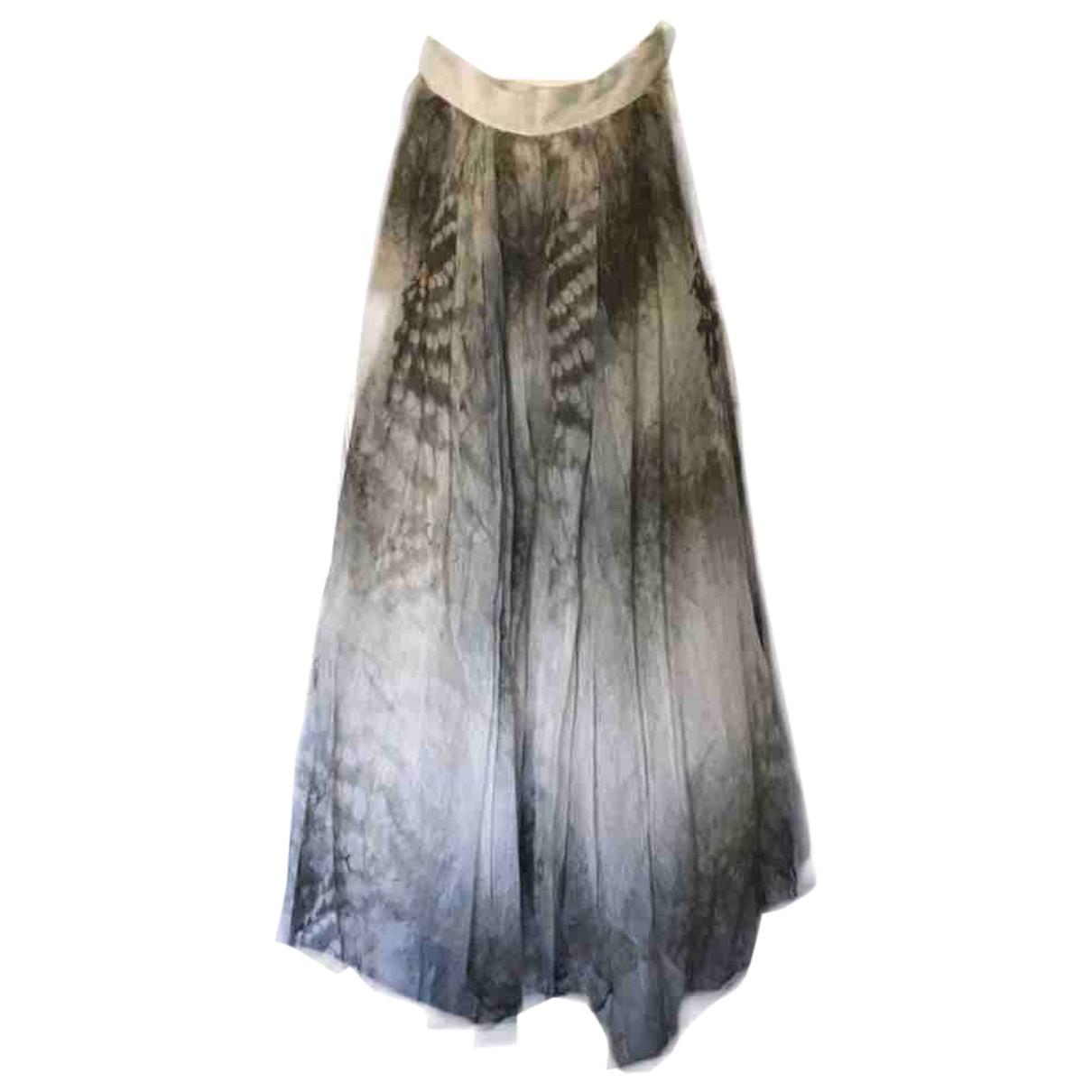 Hm Conscious Exclusive \N Multicolour Linen skirt for Women 40 FR