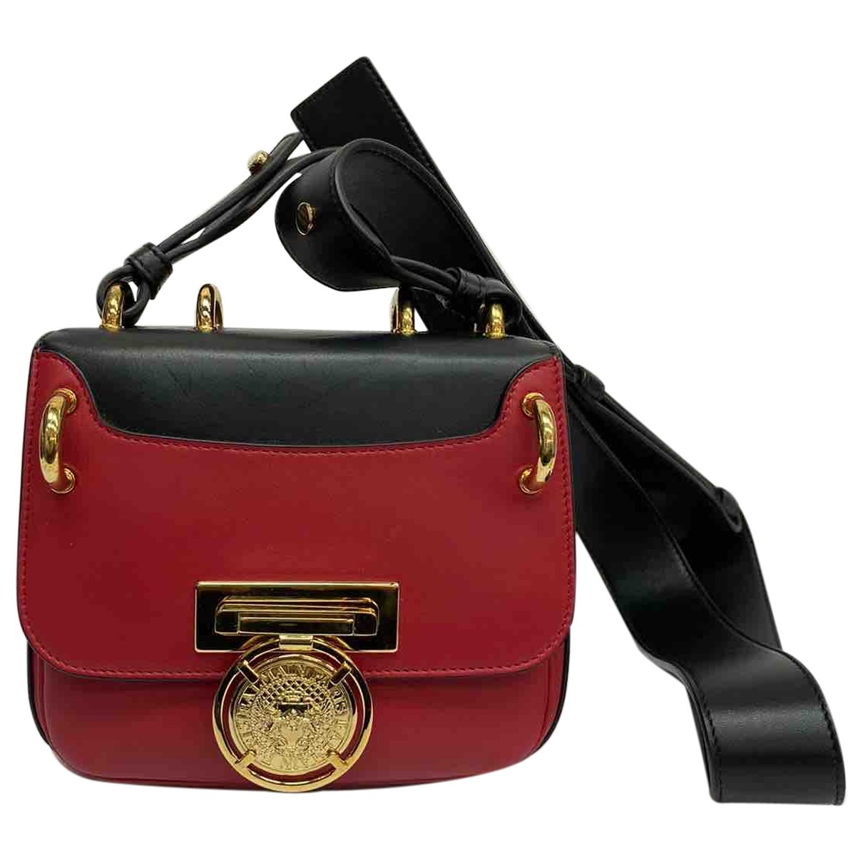 Balmain \N Red Leather handbag for Women \N