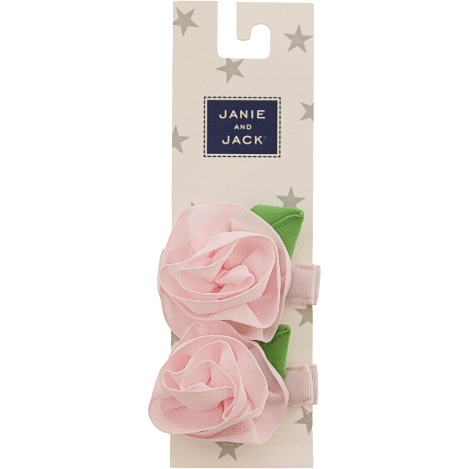 Janie And Jack Rosette Barrette Set - One Size - Pastel Pink