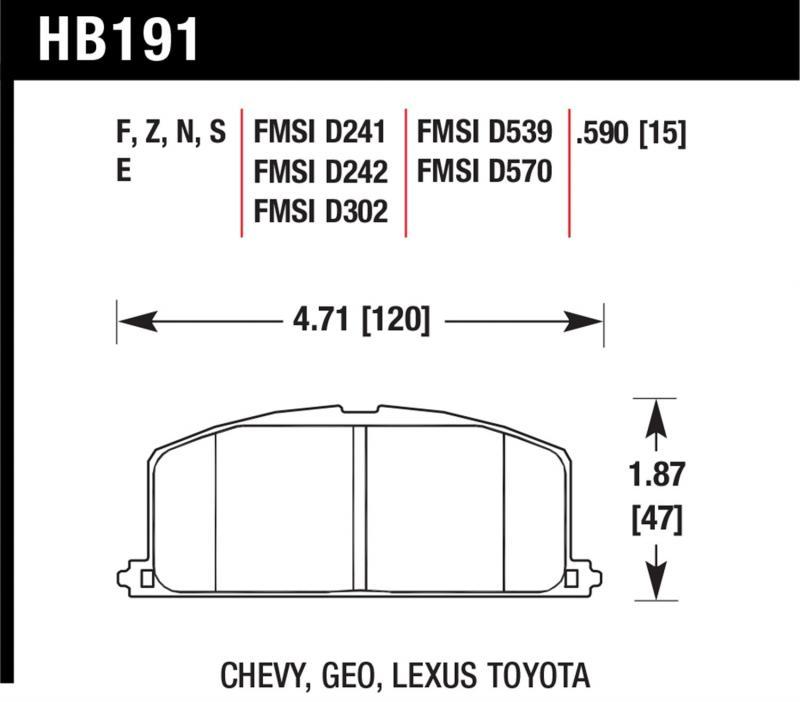 Hawk Performance HB191F.590 Disc Brake Pad Front