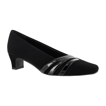 Easy Street Womens Entice Pumps Spike Heel, 9 1/2 Wide, Black