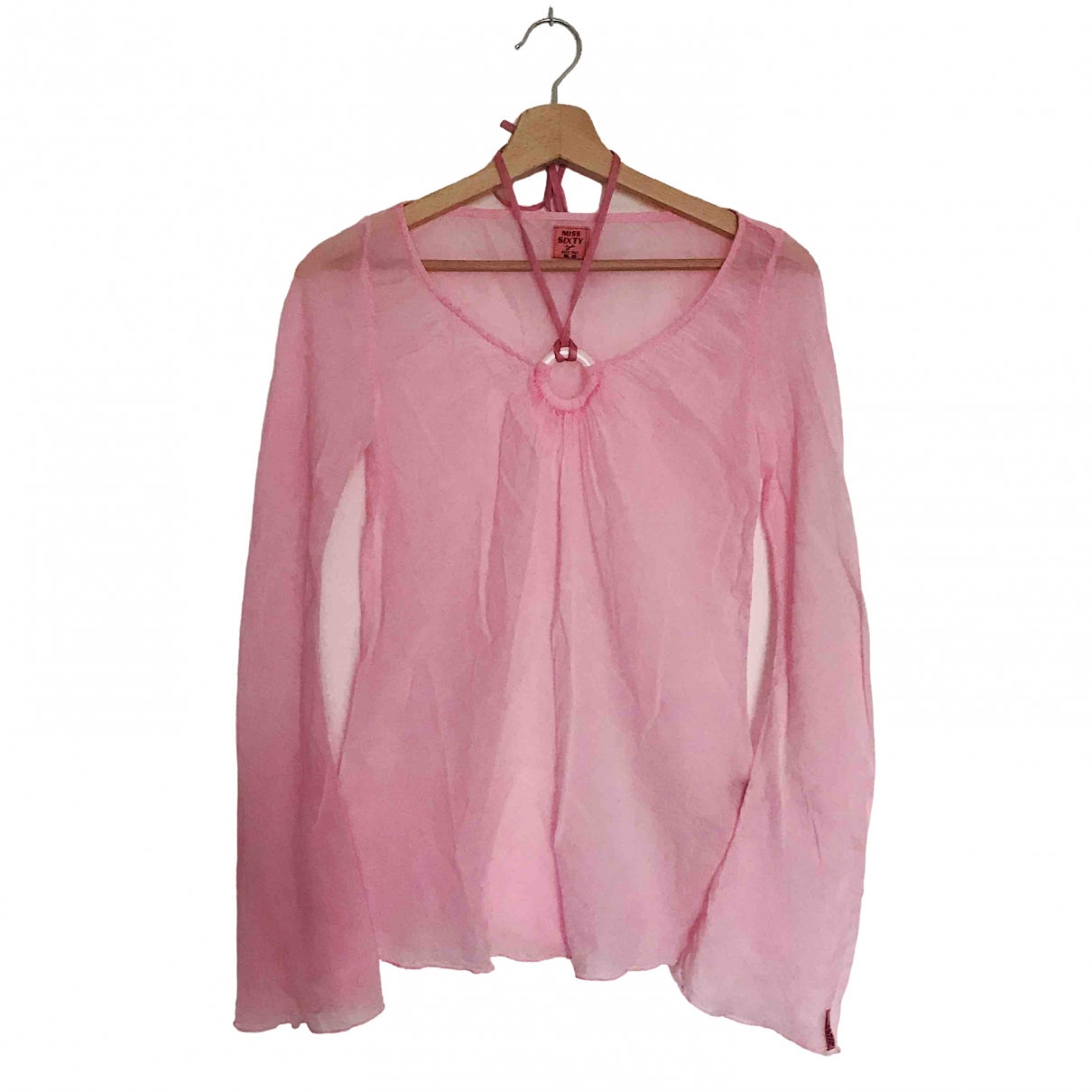 Non Signé / Unsigned \N Pink Cotton  top for Women XS International