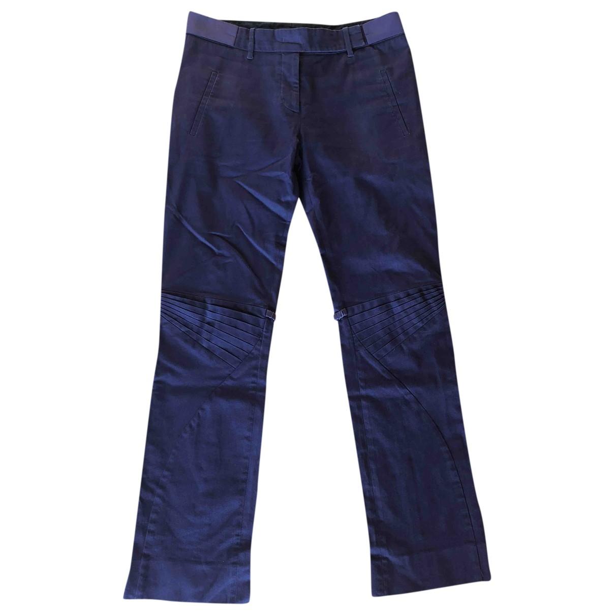 Prada \N Purple Cotton Trousers for Women 40 IT