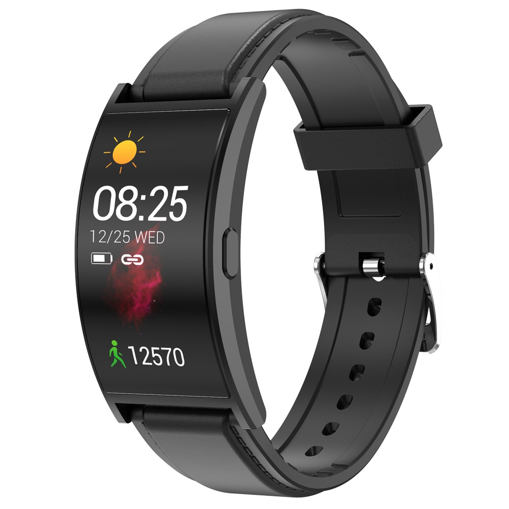 Makibes T20 Smartwatch 1.5 Inch AMOLED Display with Curved-screen - Black