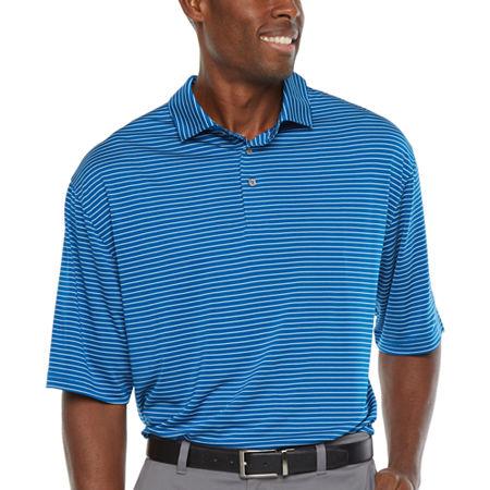 PGA TOUR Mens Short Sleeve Polo Shirt - Big and Tall, 4x-large Tall , Blue