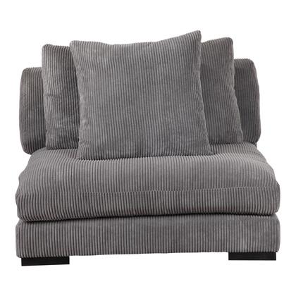 Tumble Collection UB-1008-25 Slipper Chair with Solid Eucalyptus Frame in Gray