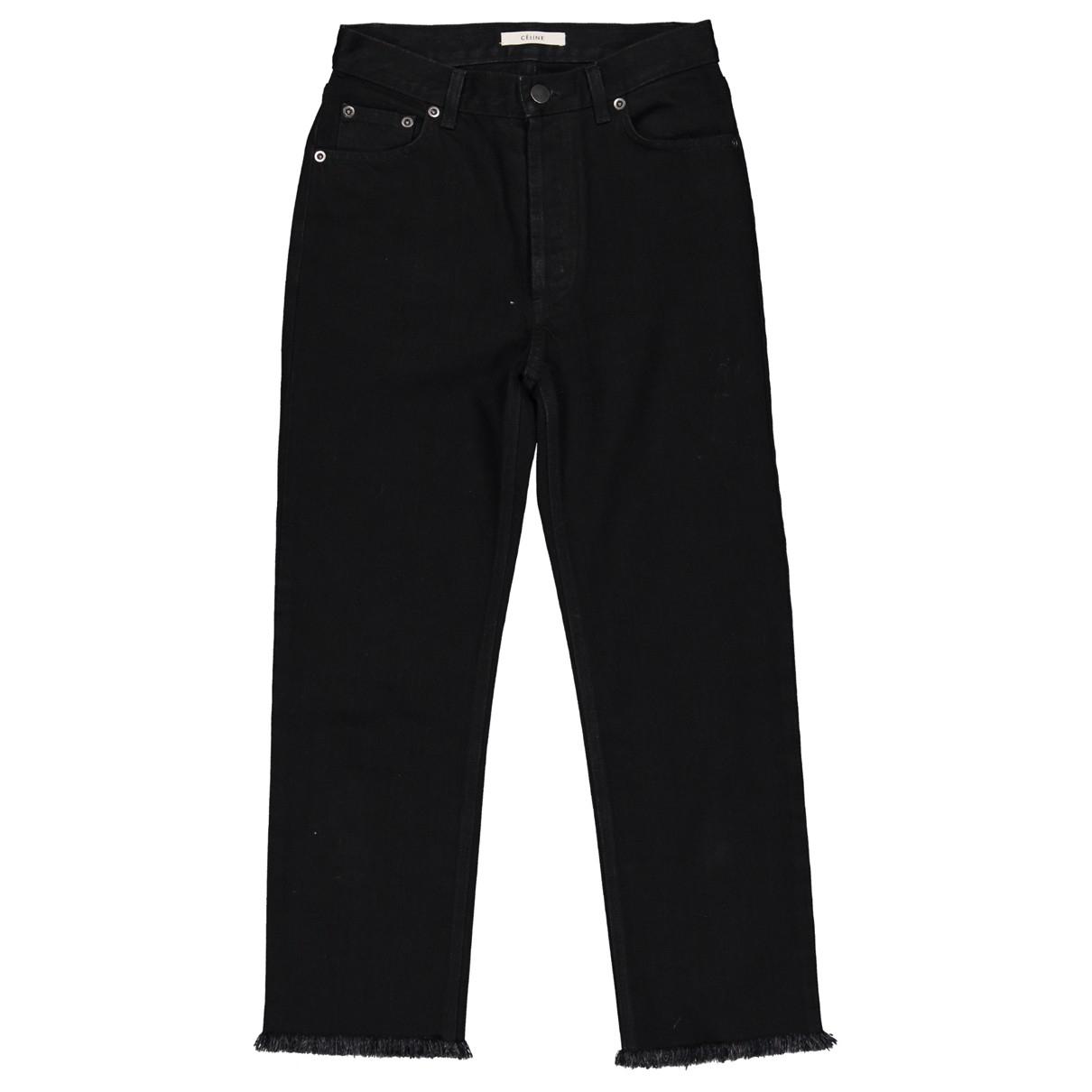 Celine \N Black Cotton Jeans for Women 34 FR