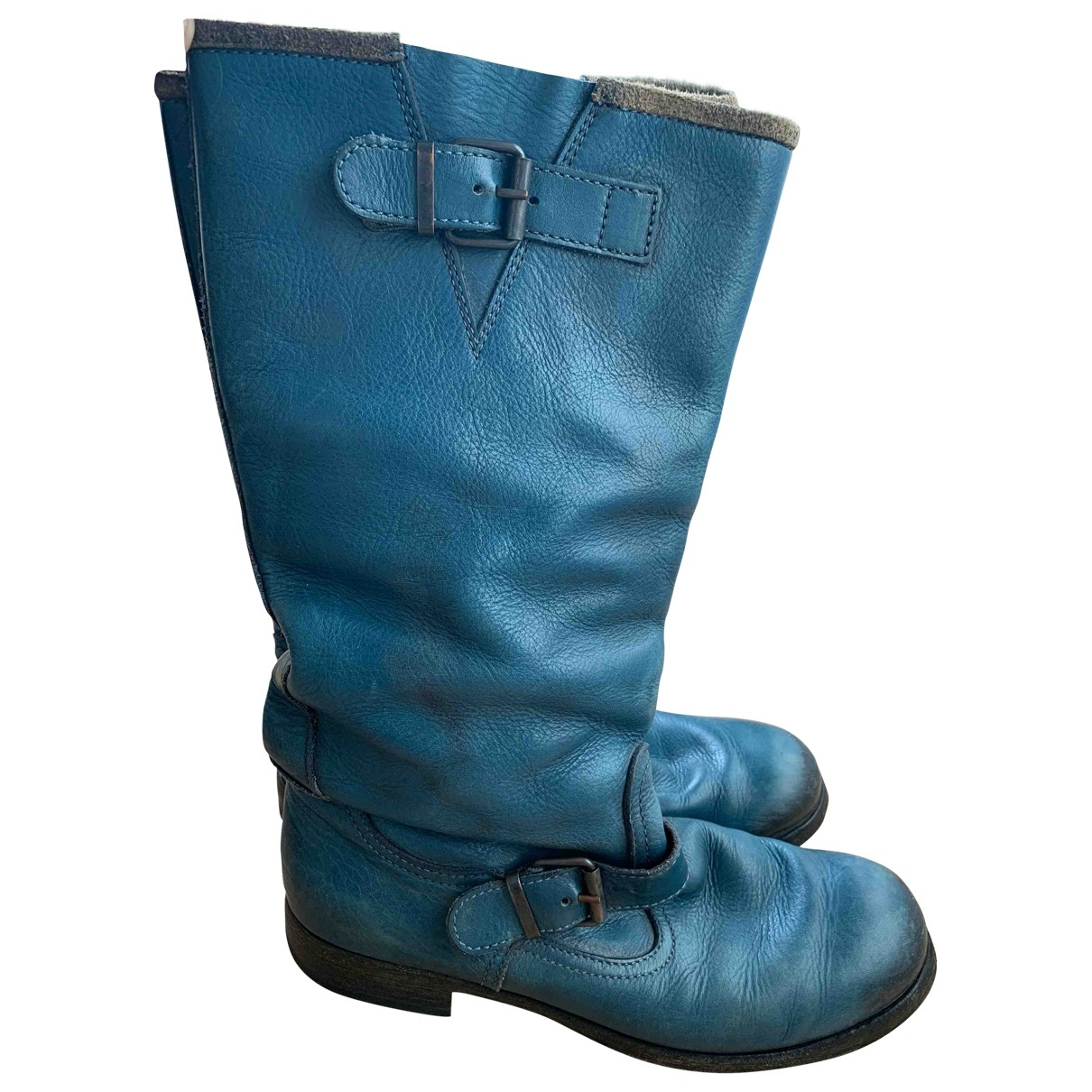 Moma \N Blue Leather Boots for Women 40 EU