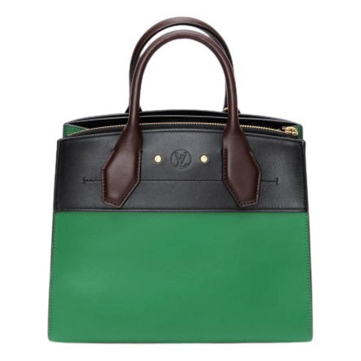 Louis Vuitton City Steamer Green Leather handbag for Women \N