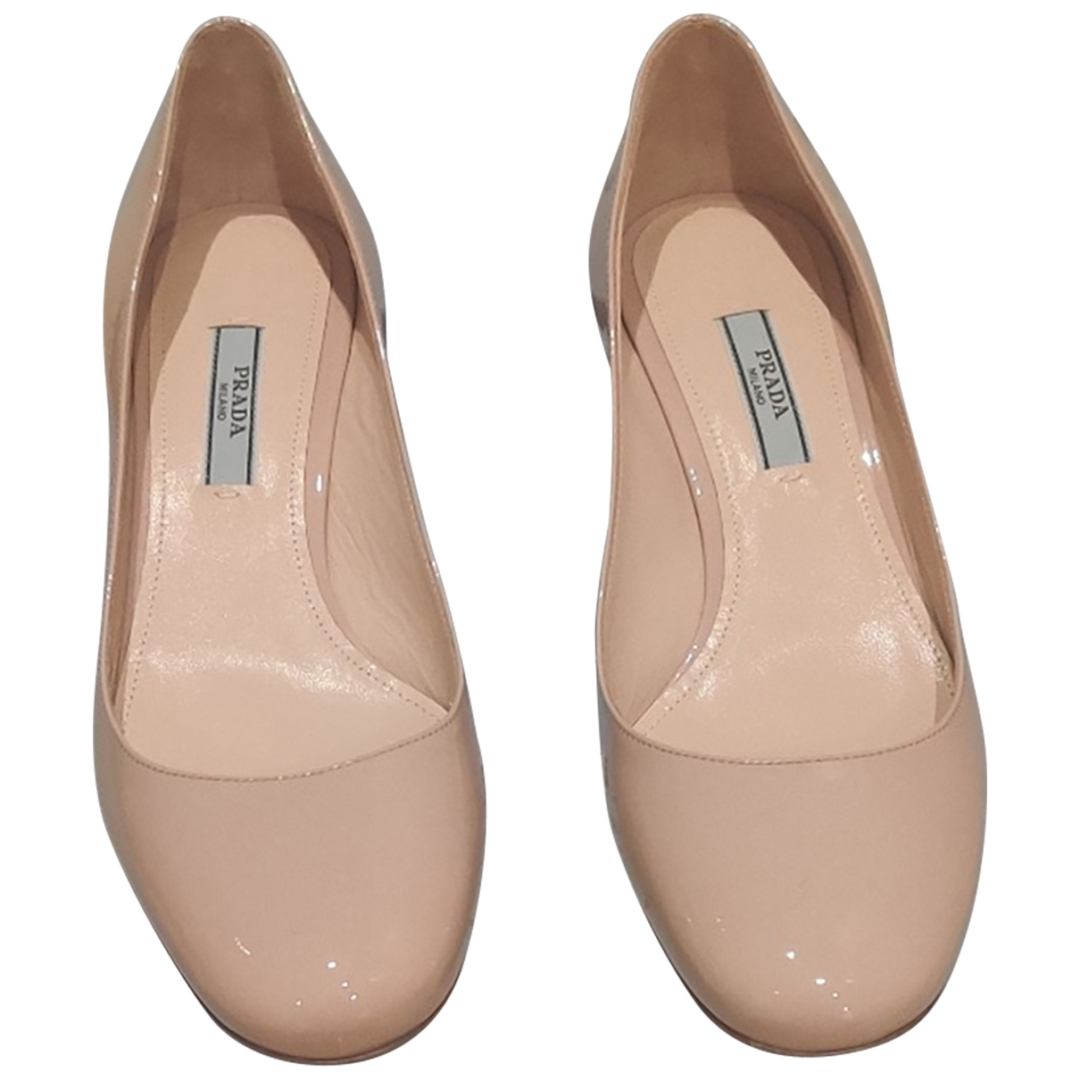 Prada \N Beige Patent leather Heels for Women 37 EU