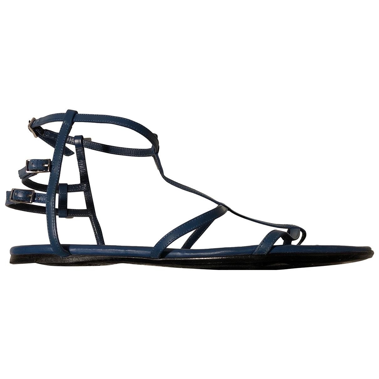 Boss \N Blue Leather Sandals for Women 39 EU