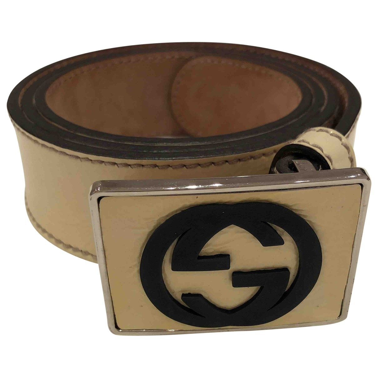 Gucci \N White Leather belt for Women XS International