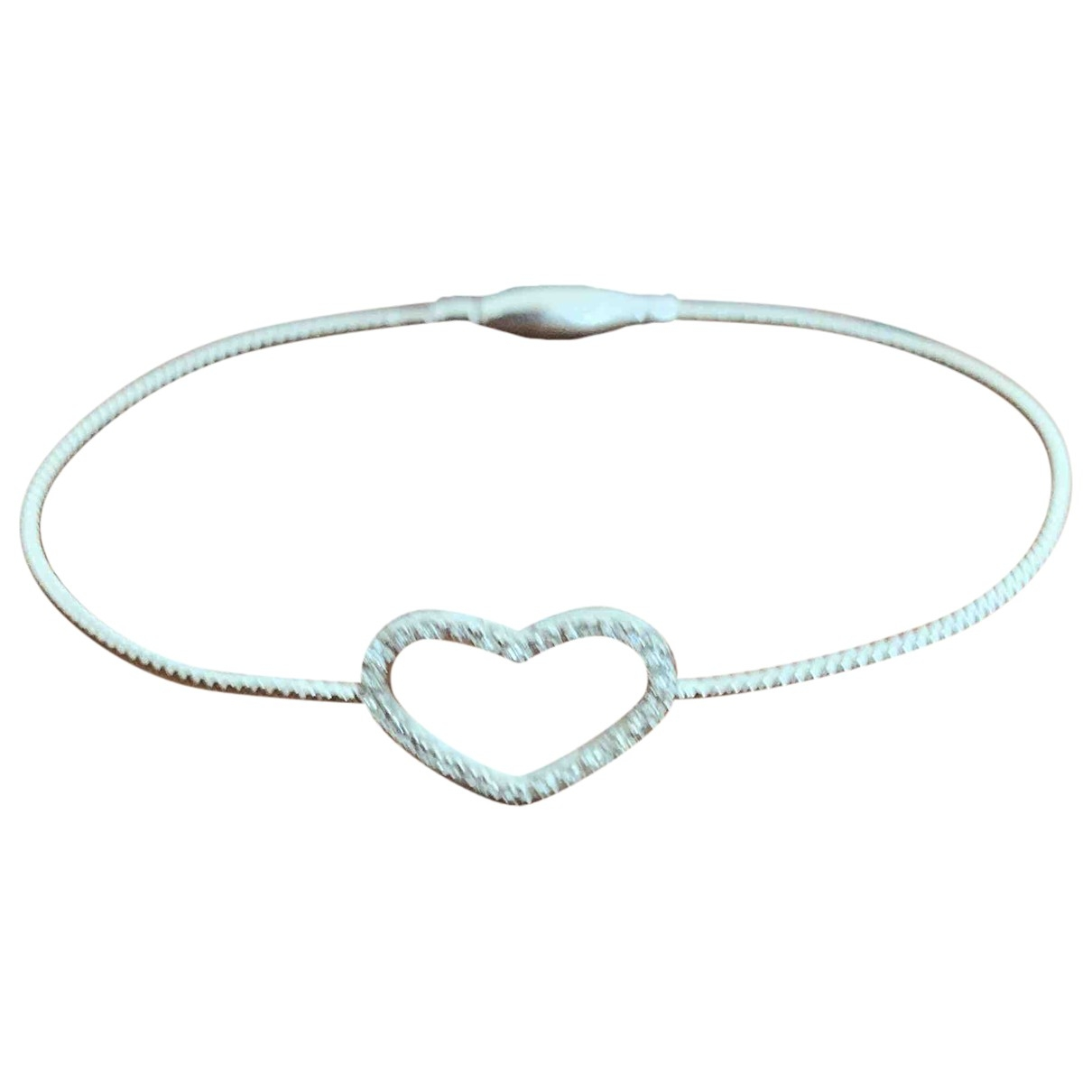 Non Signé / Unsigned Motifs Coeurs Silver White gold bracelet for Women \N
