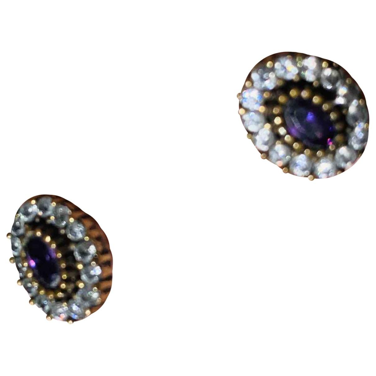 Non Signé / Unsigned Améthyste Purple Silver Earrings for Women \N