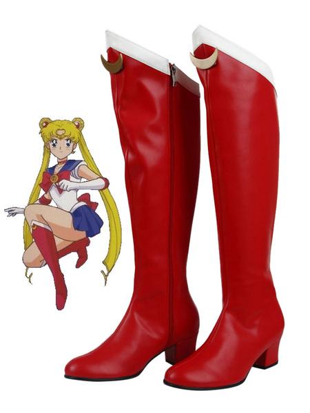 Milanoo Sailor Moon Tsukino Usagi Cosplay Shoes