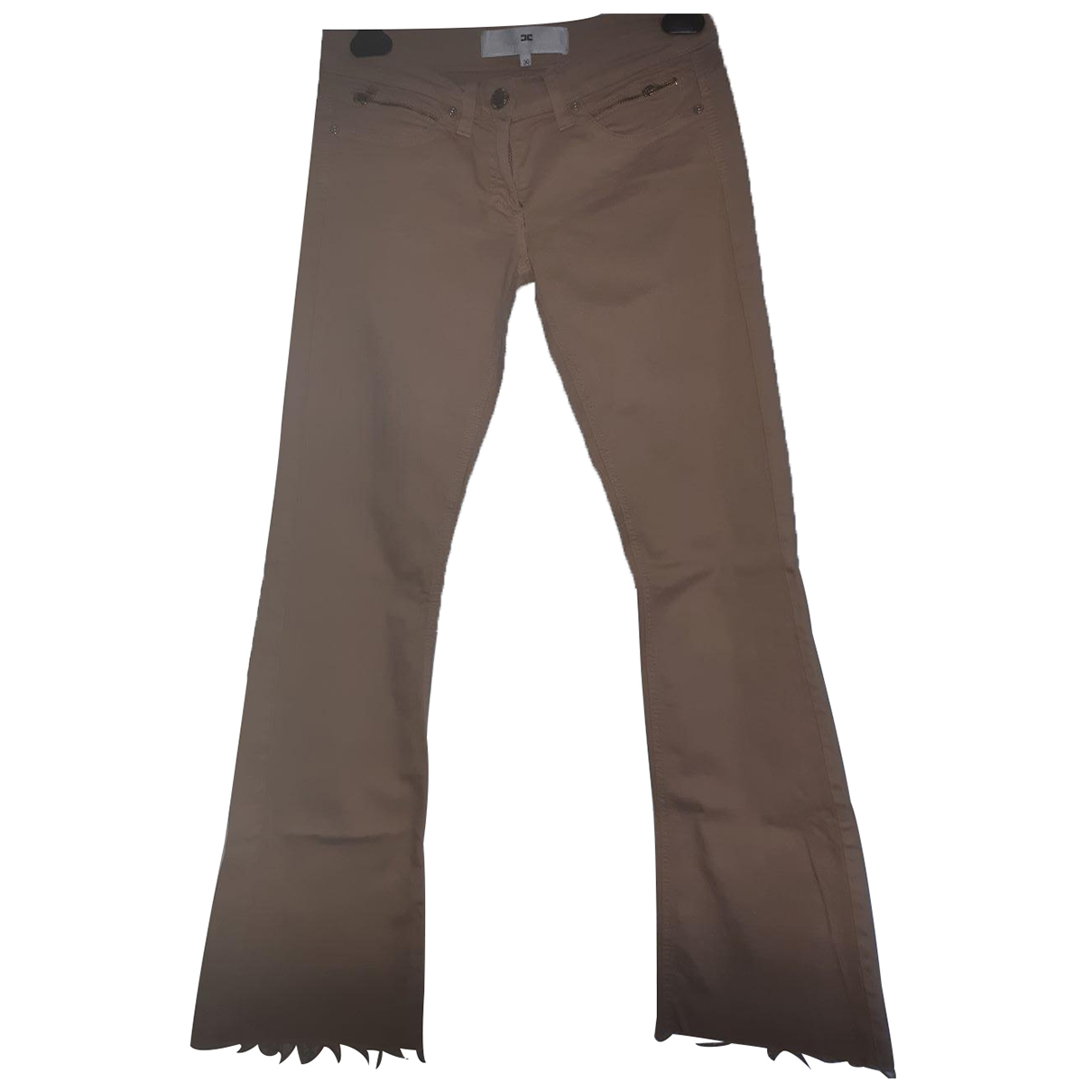 Elisabetta Franchi \N Beige Cotton - elasthane Jeans for Women 29 US