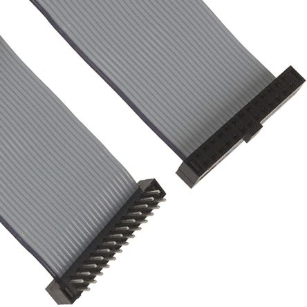 Samtec Flat Ribbon Cable 200mm, Female IDC 15-Pin to Female IDC 15-Pin, 2x15 Ways, Ribbon Cable Assembly