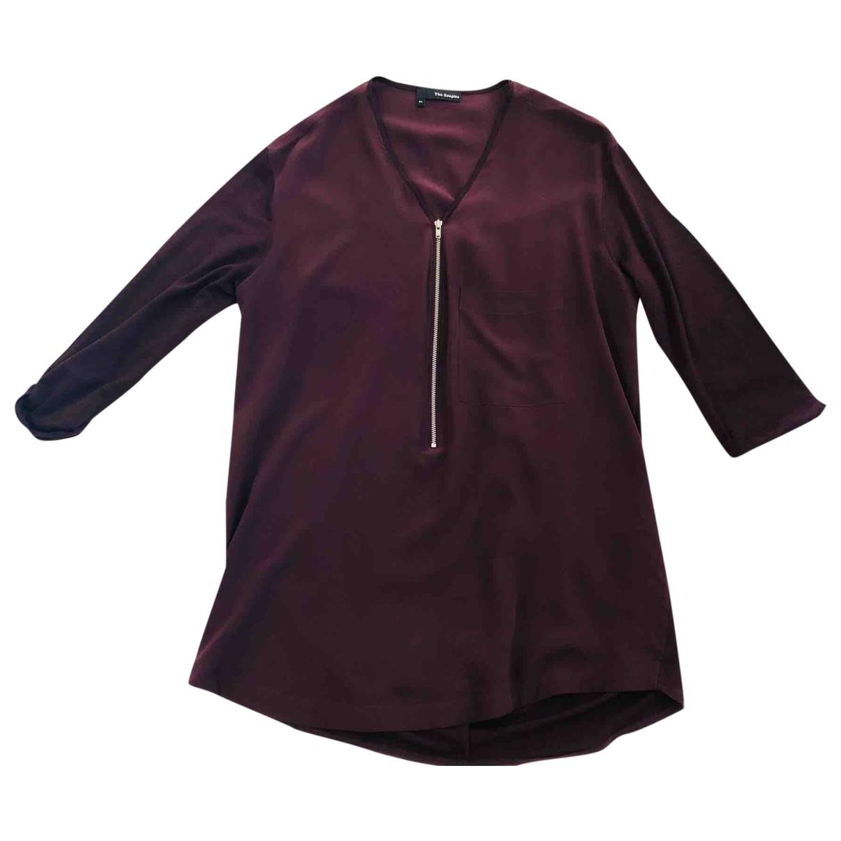 The Kooples \N Burgundy Silk  top for Women XL International