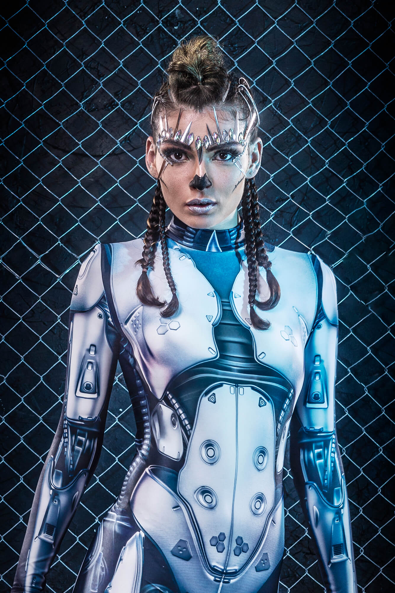 Halloween Costumes 2019 Adults - Cool Robot Costumes Womens - Sexy Halloween Bodysuit Woman