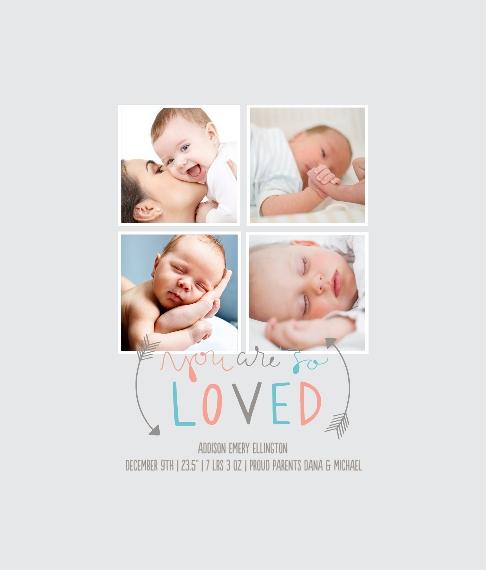 Baby + Kids Framed Canvas Print, Oak, 8x10, Home Décor -So Loved