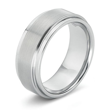 Mens 8mm Comfort-Fit Ring in Tungsten, 14 , Multiple Colors