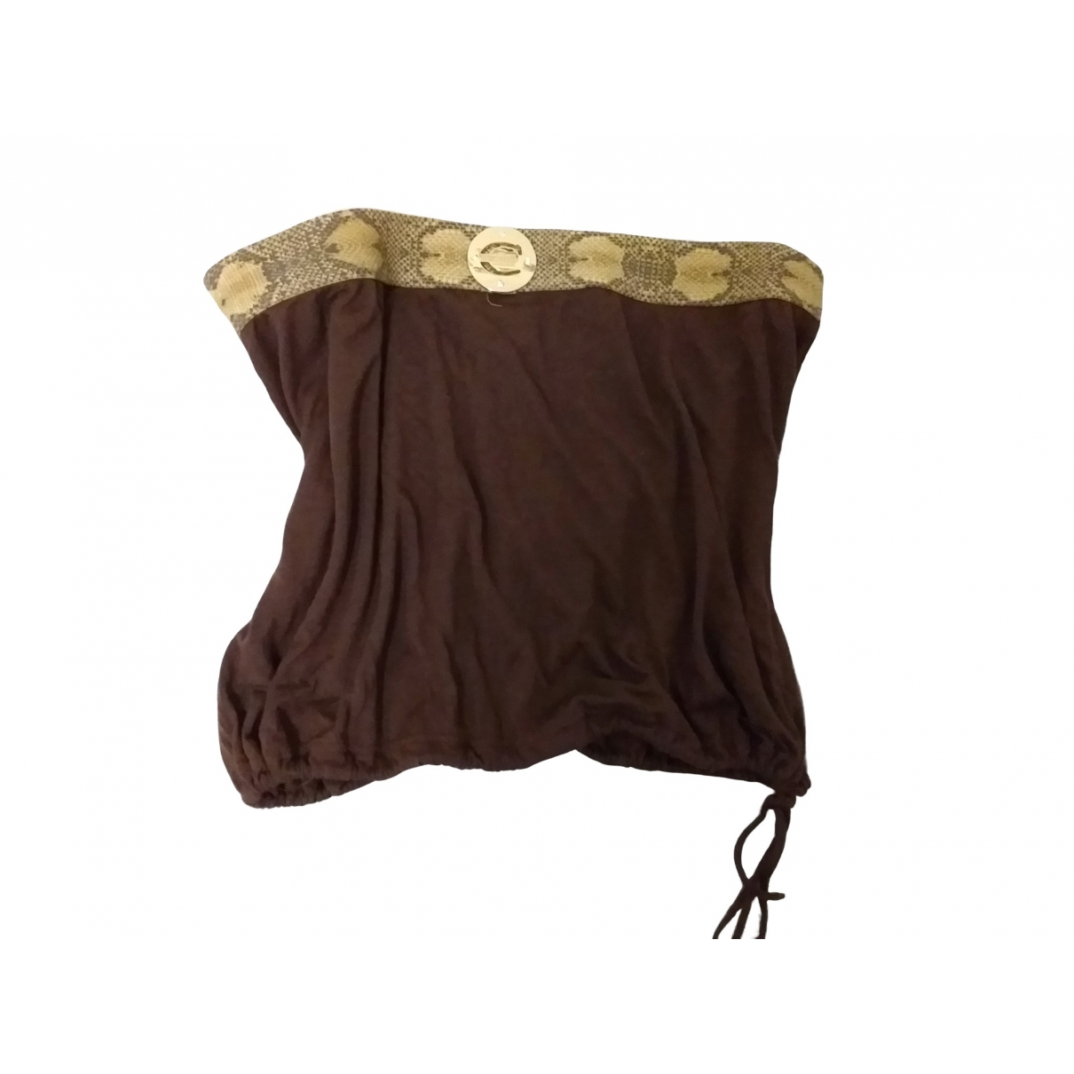 Just Cavalli \N Brown Cotton  top for Women 42 FR