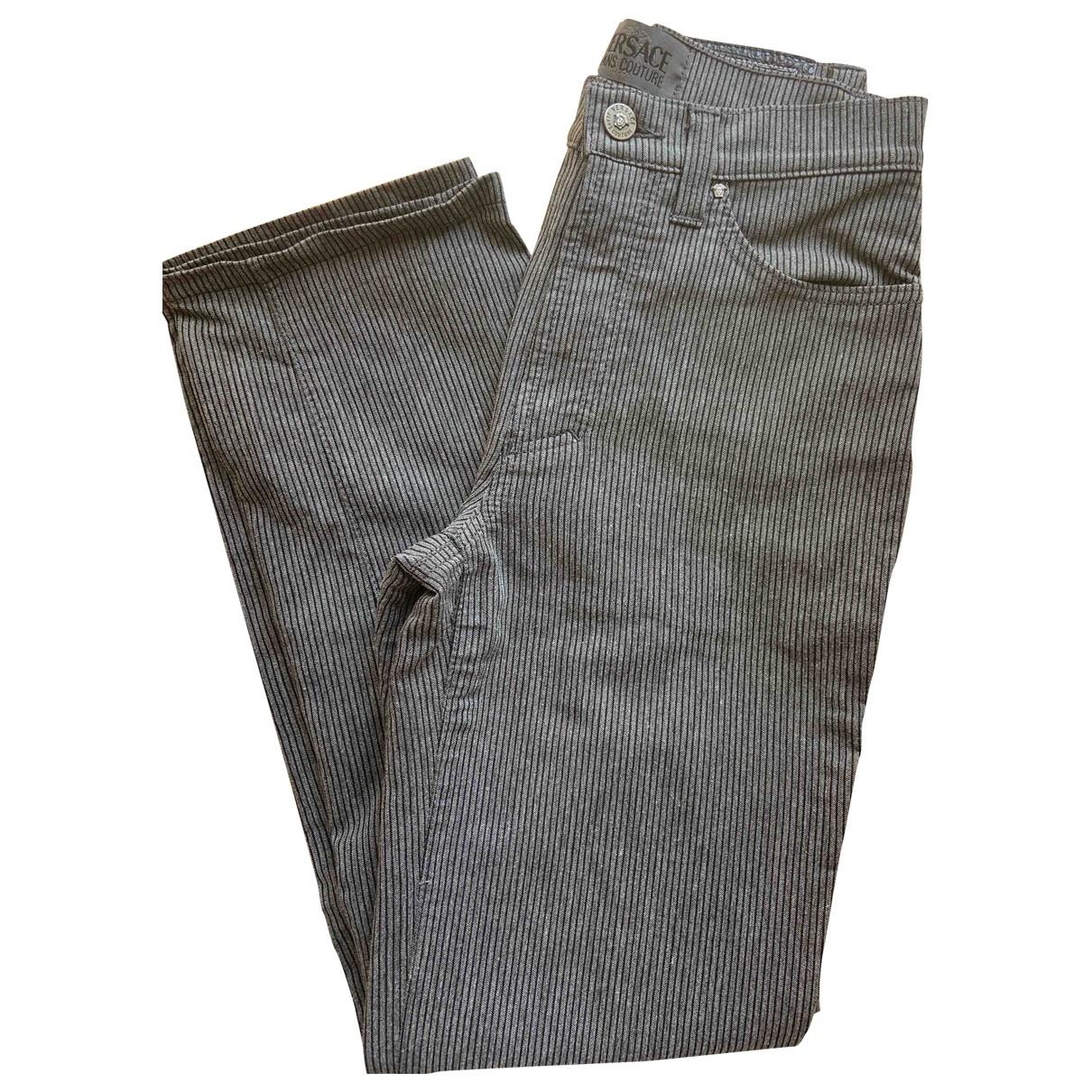 Versace Jeans \N Grey Trousers for Women 38 IT