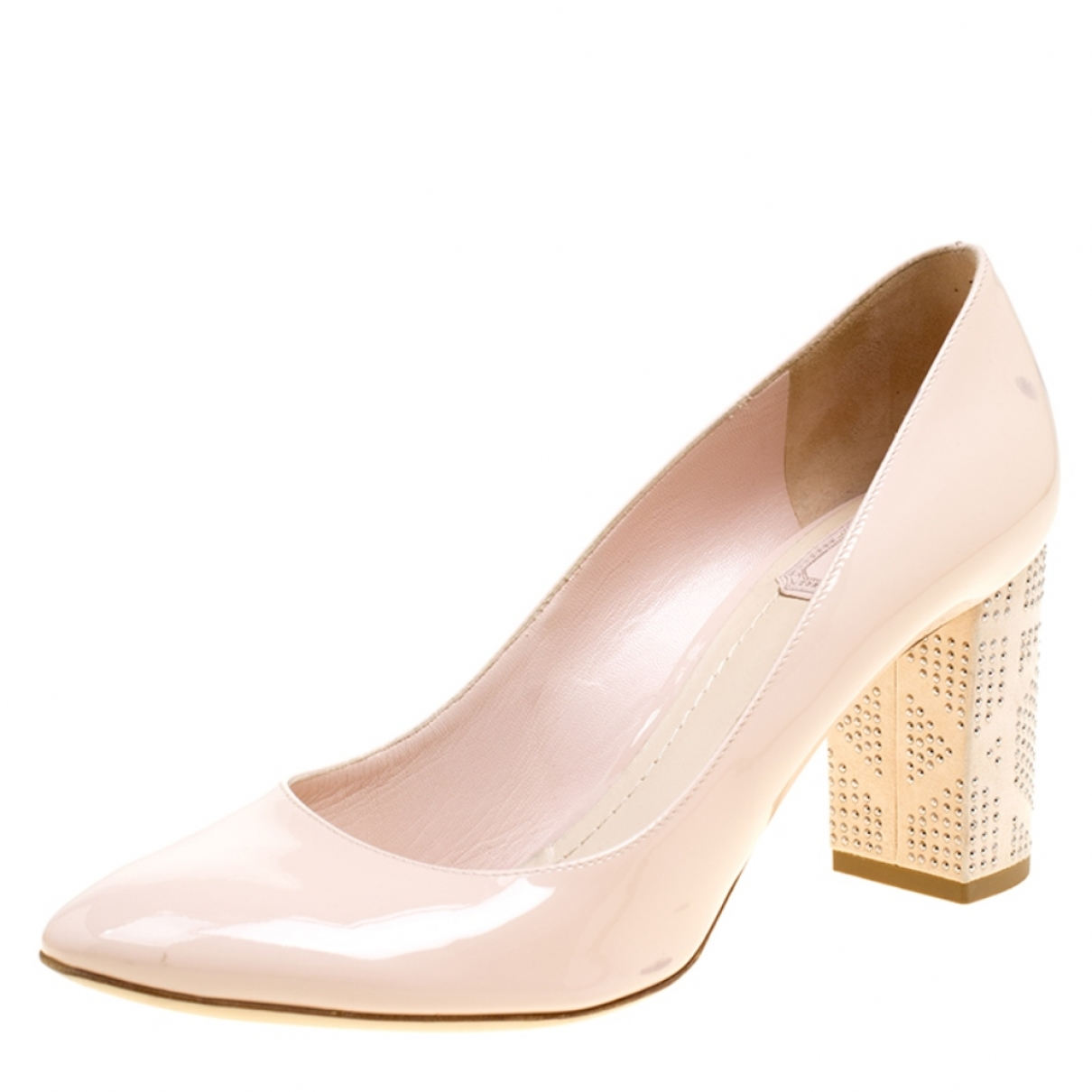Dior \N Pink Leather Heels for Women 39.5 EU
