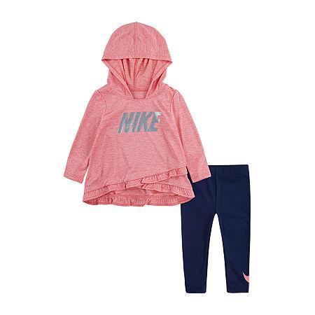 Nike Legging Set-2-pc.Toddler Girls, 4t , Blue