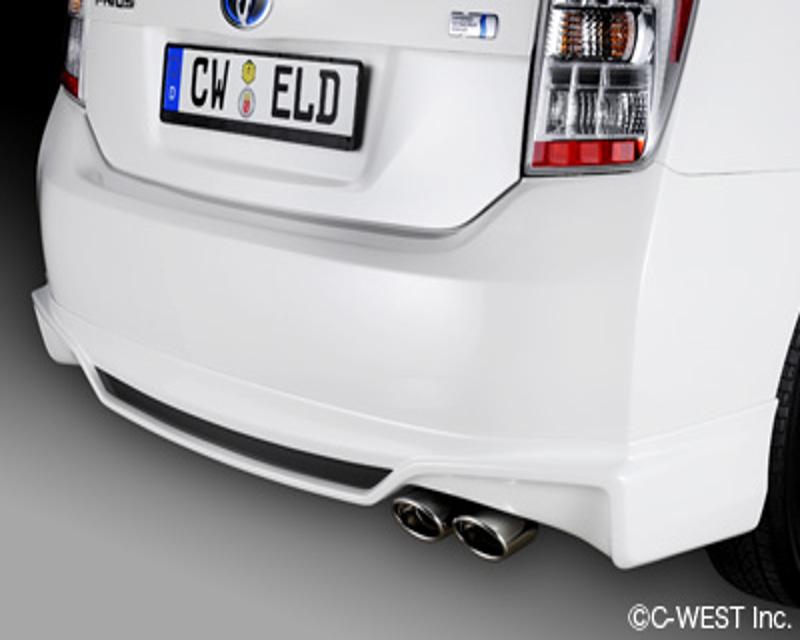C-West EZV01A-RHWPAB Rear Half Spoiler ABS Blizzard Pearl Toyota Prius 10-14