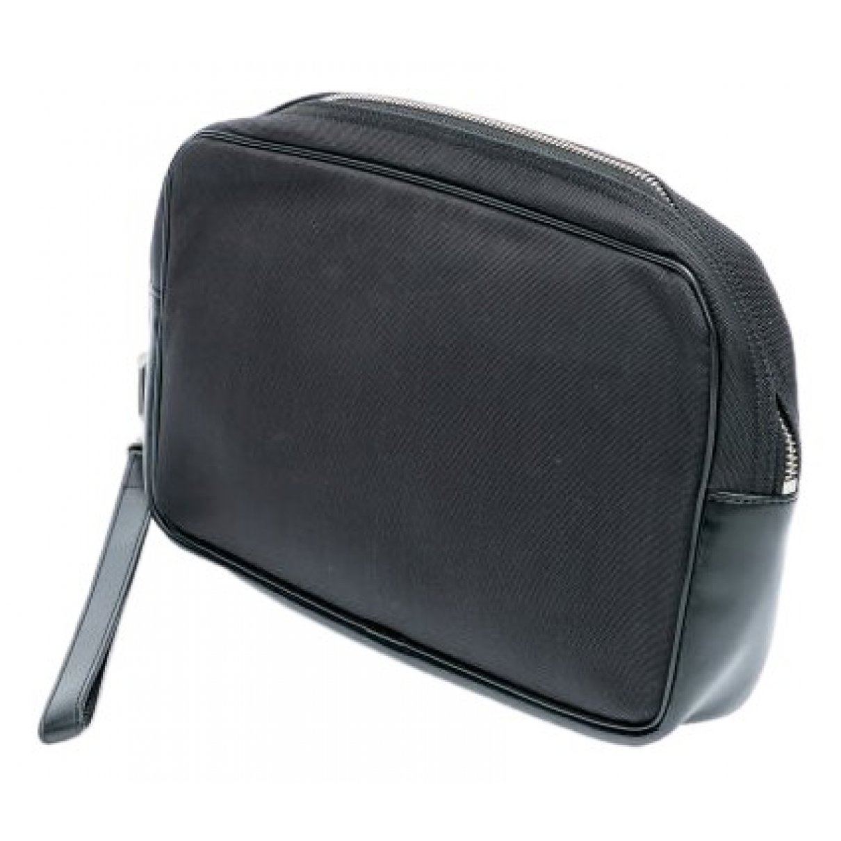 Alfred Dunhill \N Black Cloth Small bag, wallet & cases for Men \N