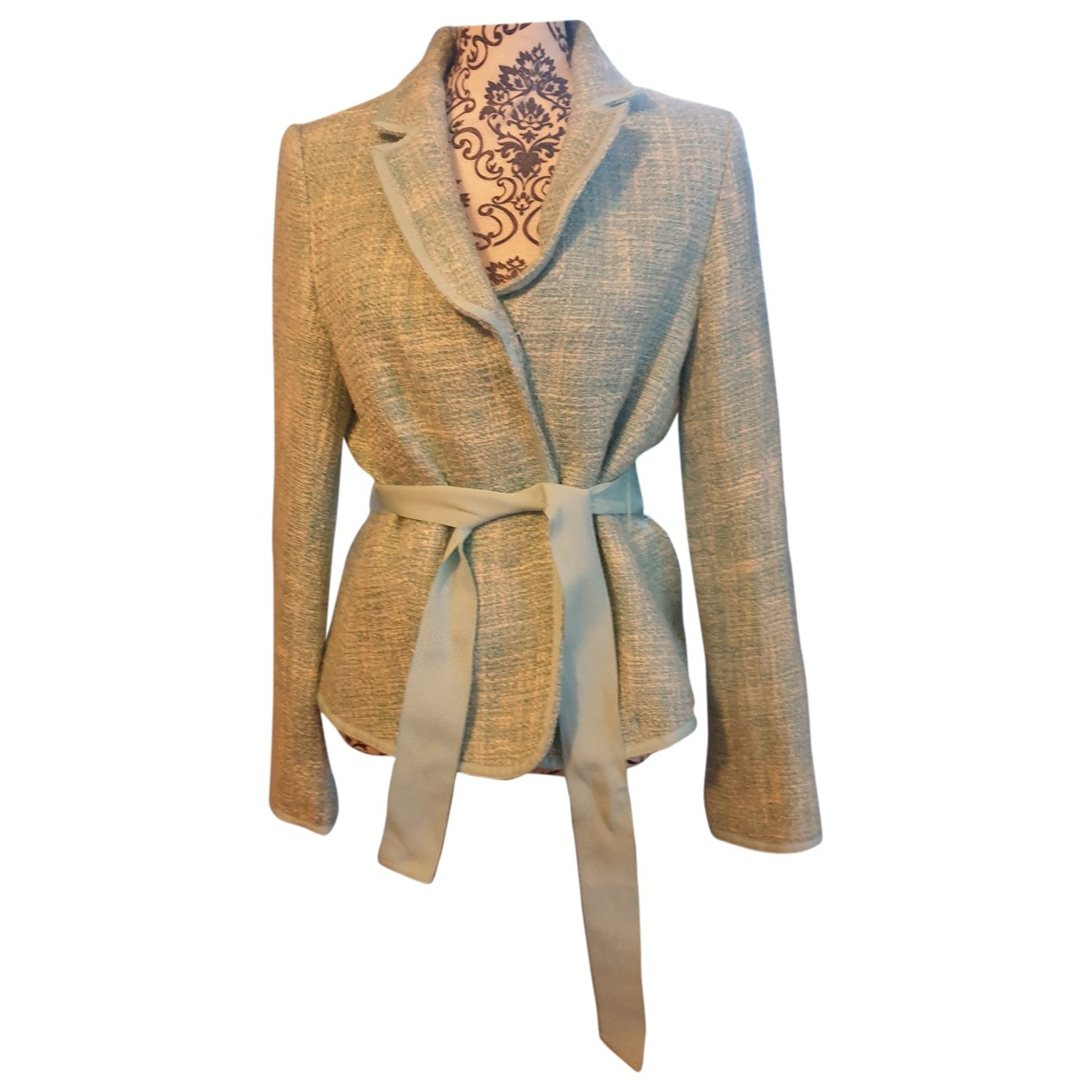 Non Signé / Unsigned \N Turquoise Wool jacket for Women 42 FR
