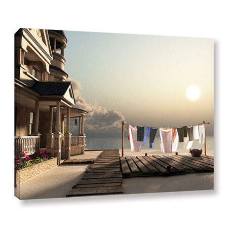 Brushstone Laundry Day Gallery Wrapped Canvas WallArt, One Size , Blue