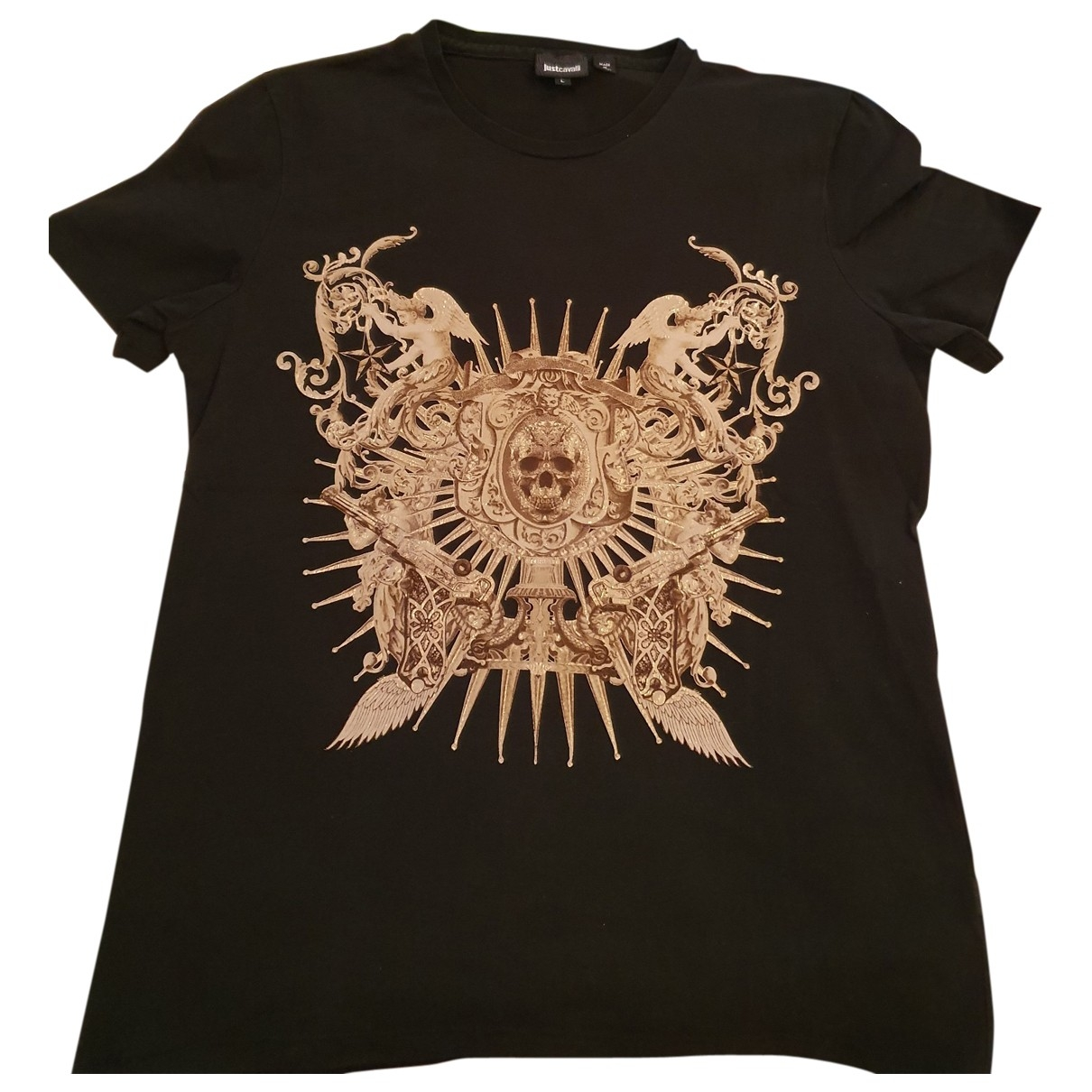 Just Cavalli \N Black Cotton T-shirts for Men L International