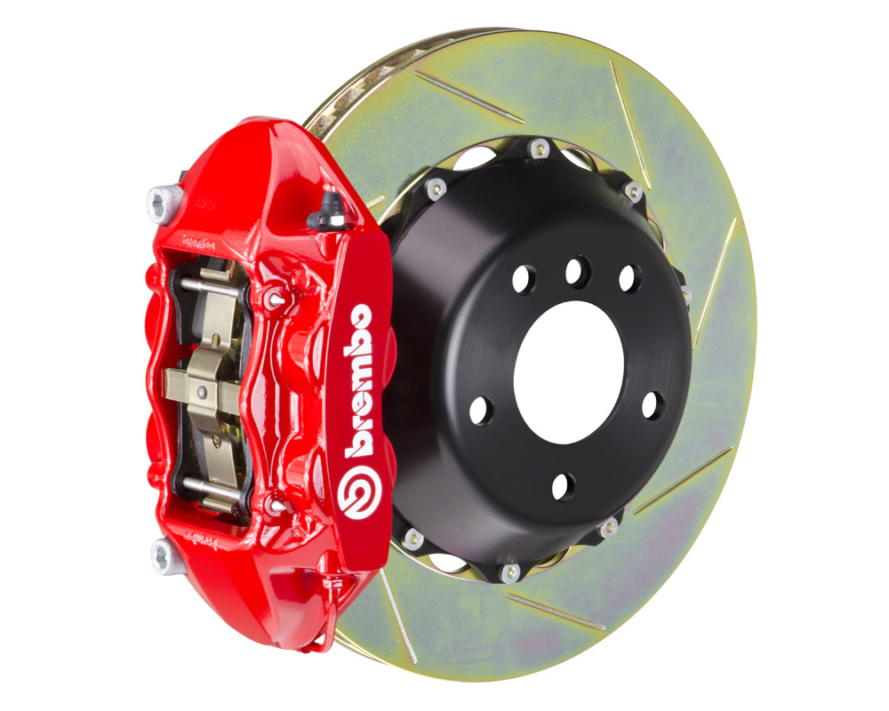 Brembo GT 380x28 2-Piece 4 Piston Red Slotted Rear Big Brake Kit