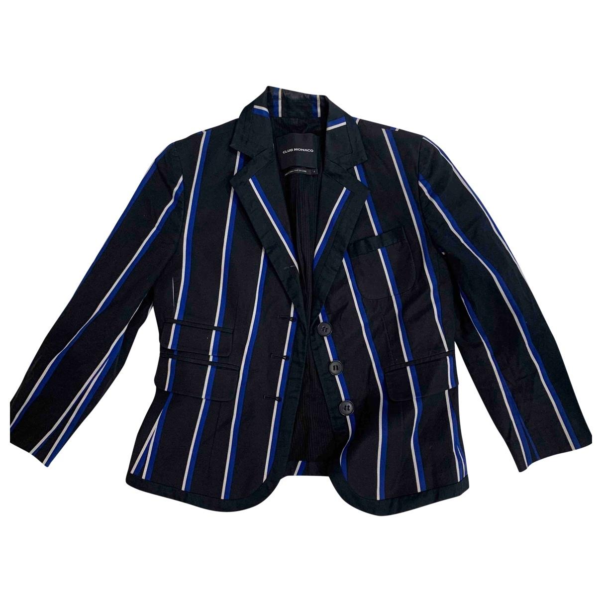 Club Monaco \N Navy Cotton jacket for Women 4 US