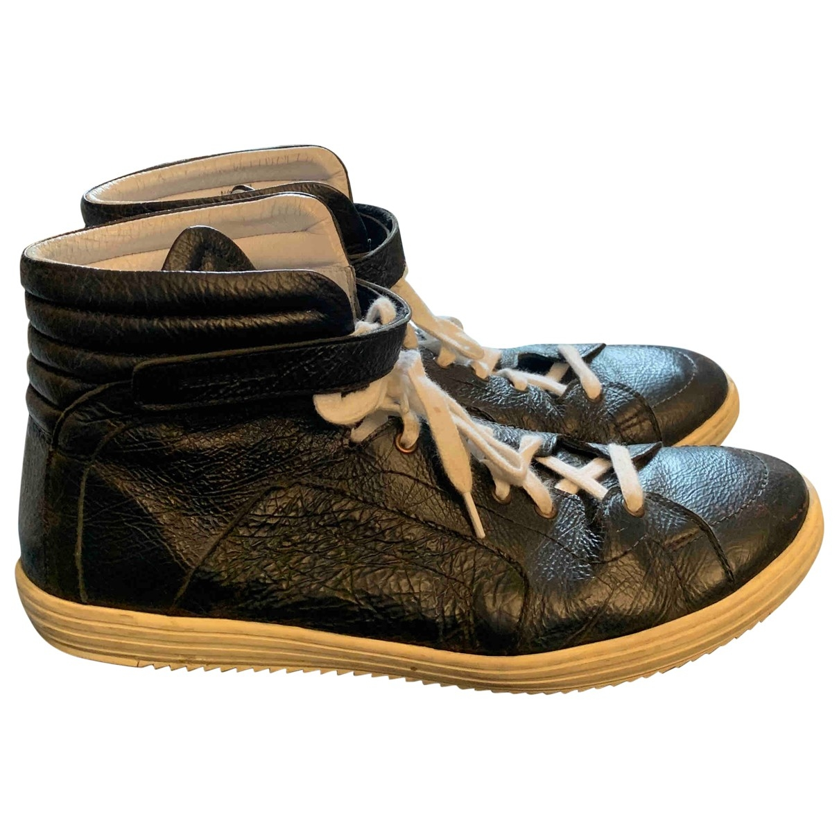 Pierre Hardy \N Black Leather Trainers for Men 44 EU