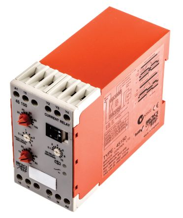Broyce Control Current Monitoring Relay With SPDT Contacts, 230 V ac Supply Voltage, 1 Phase