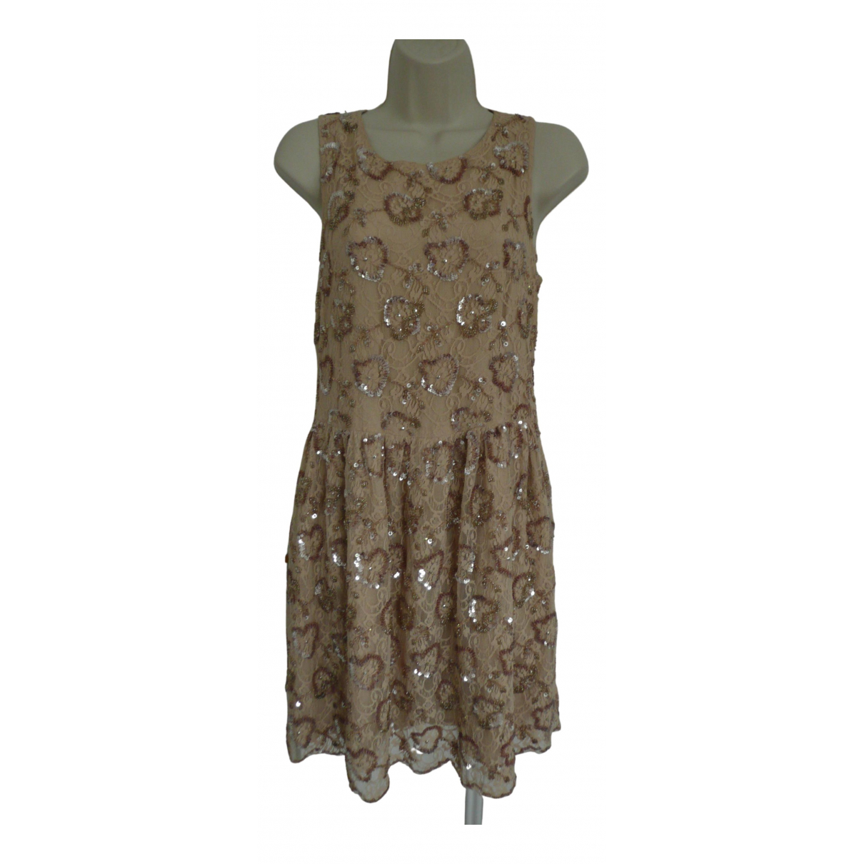Red Valentino Garavani \N Beige Lace dress for Women 42 IT