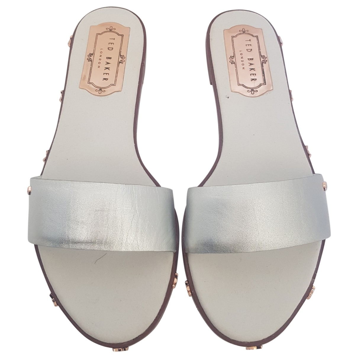 Ted Baker \N Silver Leather Sandals for Women 6 UK