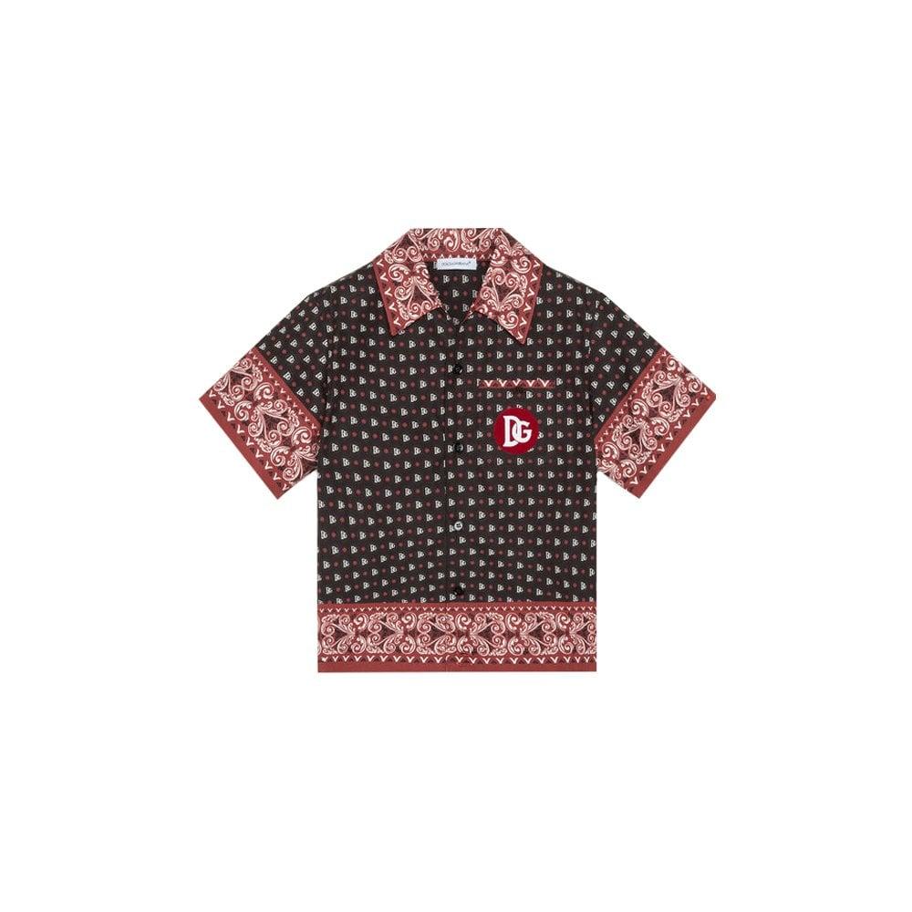 Dolce & Gabbana Kids Botton Shirt Colour: BLACK, Size: 3/6