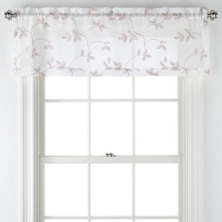 Regal Home Meadow Rod-Pocket Tailored Valance, One Size , Pink